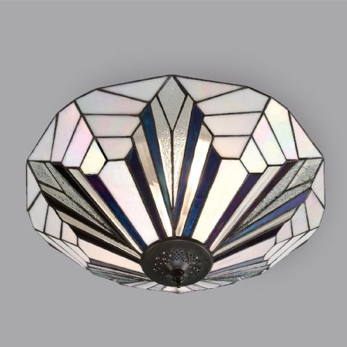 Astoria Flush Ceiling Light (Art Deco, Flush Fitting) T026FL (Tiffany style)